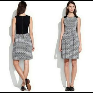 Madewell black and white damask dress
